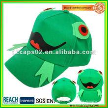 Gorra de béisbol de los niños del patrón de la rana BC-c0008