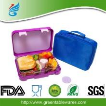 रंगीन थोक उच्च गुणवत्ता प्लास्टिक Leakproof Bento लंच बॉक्स के लिए बच्चों के बच्चों का उपयोग करें