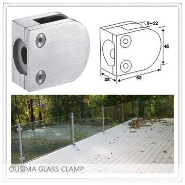 Abrazadera de cristal del Balustrade del acero inoxidable con la alta calidad para el sistema de la barandilla (CR-055)