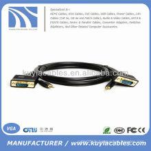 6FT VGA SVGA M / M Monitor HDTV Kabel mit 3,5 mm Audio