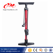 CE approved bicycle hand pump / bike tyre pump for Europe market / floor air pump for mtb and road bike