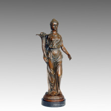 Female Art Figure Bronze Garden Sculpture Flower Lady Brass Statue TPE-549/550