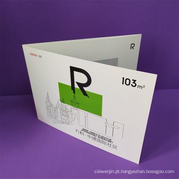 Pasta de papel de apresentação de bolso personalizada