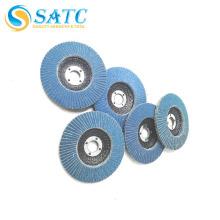disque de roue de rabat de zircone de vente chaude pour le polissage du métal et du bois de polissage