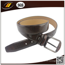 Polished Brown Real Leather Men′s Office Belt