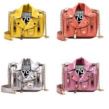 Gold Supplier Wholesale Funny Jacket Shape Bags Pu Leather Chain Purses Crossbody Handbags For Women Bags Kid Purses 2021
