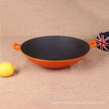 Vente chaude de produits de grande taille wok émaillé