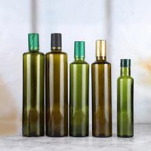 100ml 250ml 500ml 750ml empty amber green olive oil glass bottle for soy sauce vinegar dispenser with lid