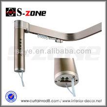 Aluminium bendable motorized curtain rail system for hotel