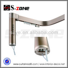 Sistema de trilho de cortina motorizado flexível de alumínio para hotel