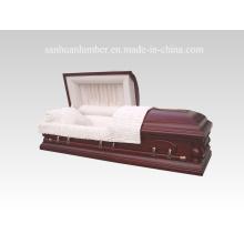 Caixão de madeira sólida & caixão / caixão de madeira de estilo New & caixão