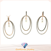 Vente en gros Bijoux fantaisie pour femme AAA CZ & Pearl 925 Silver Set (S3320)