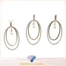 Оптовая Женская мода ювелирные изделия AAA CZ и Перл 925 Серебряный набор (S3320)
