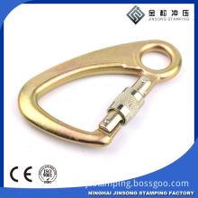 Metal T shape snap bolt hooks