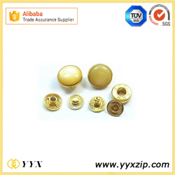 Shiny Gold Plated 4 Parts Snap Metal Buttons