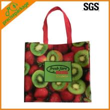 reusable eco non woven gloss laminated fruit packing shopping bag