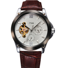 Genuine Leather Stainless Steel Back Customised Watch