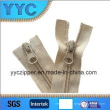 5 # Zipper de nylon de duas vias abertas