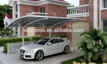 Aluminium carports with polycarbonate sheet roof