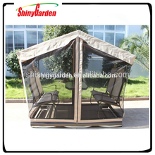 Merry christmas designer Outdoor swing garden gazebo inside rocking chair and table