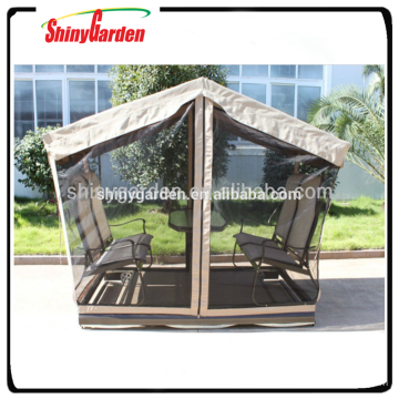 Merry christmas designer Outdoor swing garden gazebo inside rocking chair and table