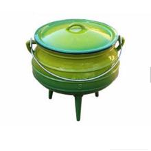 Pot pot de cuisine en fonte d'Afrique du Sud avec trois pieds pour le camping
