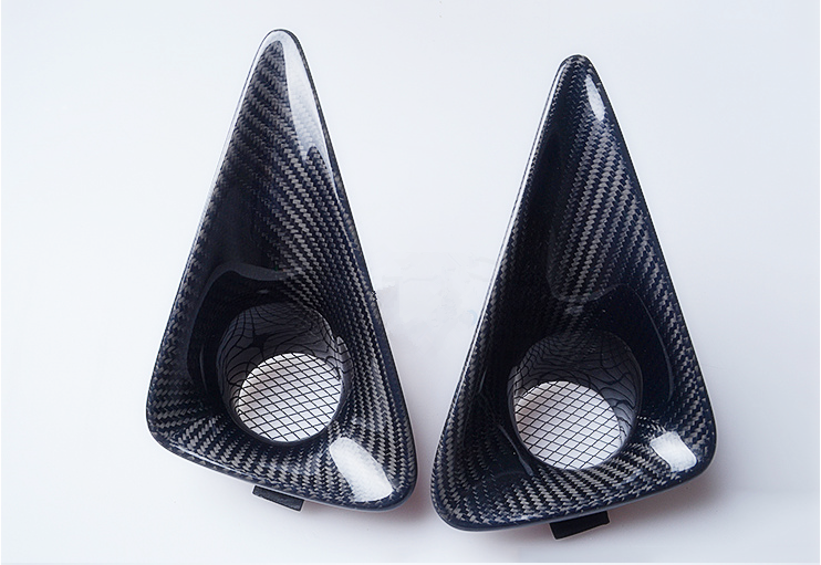 Carbon fiber fog light cover_