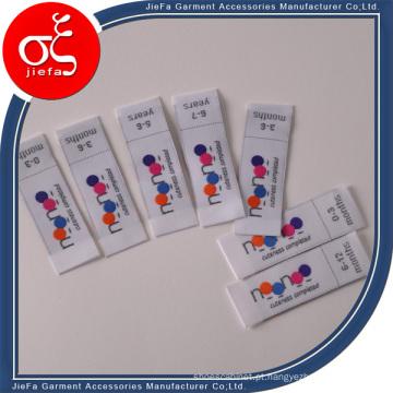 Rótulos / Rótulo principal de tecido de poliéster particular personalizado da marca