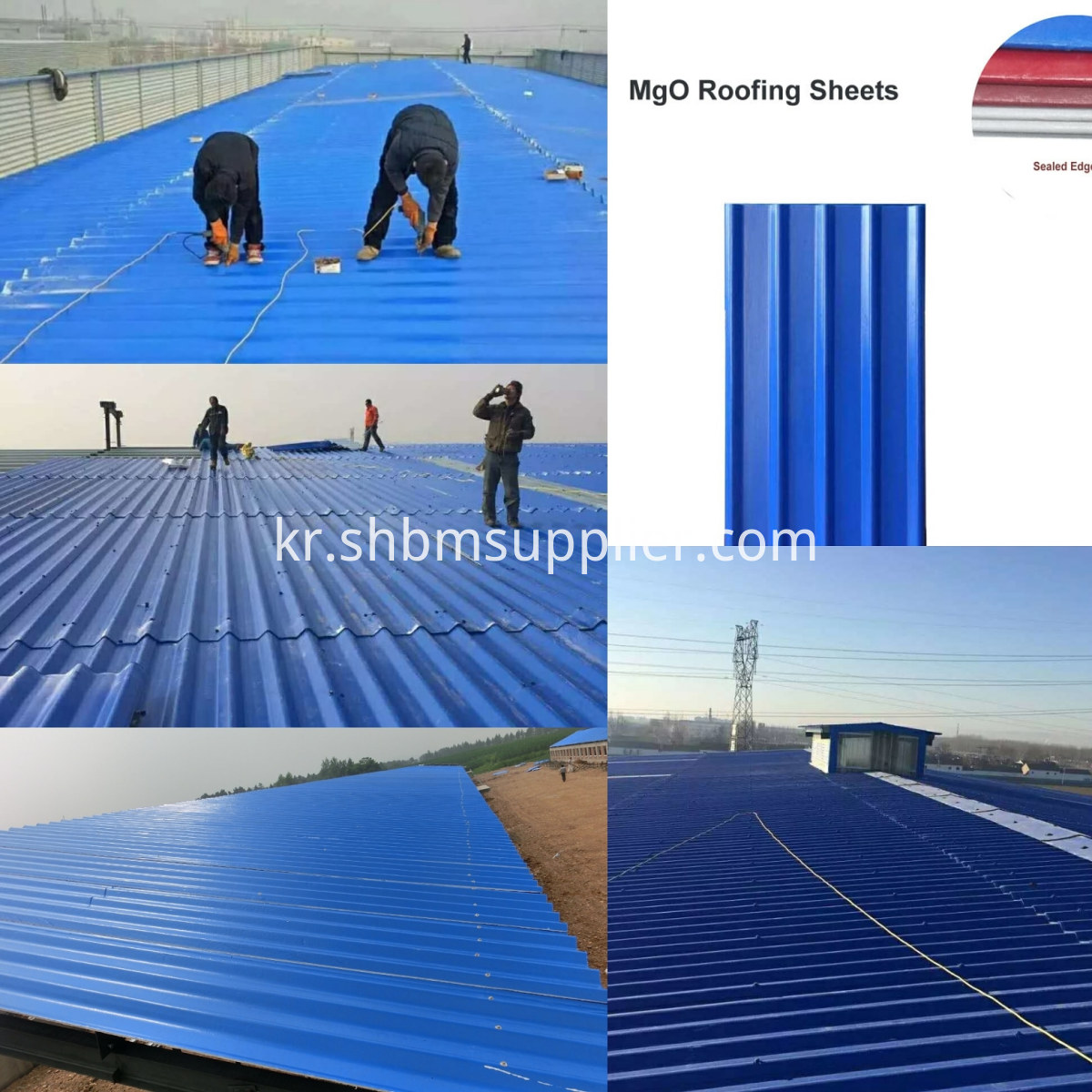 Anti-corrosion Fireproof Insulated Warehouse MgO Roof Sheet