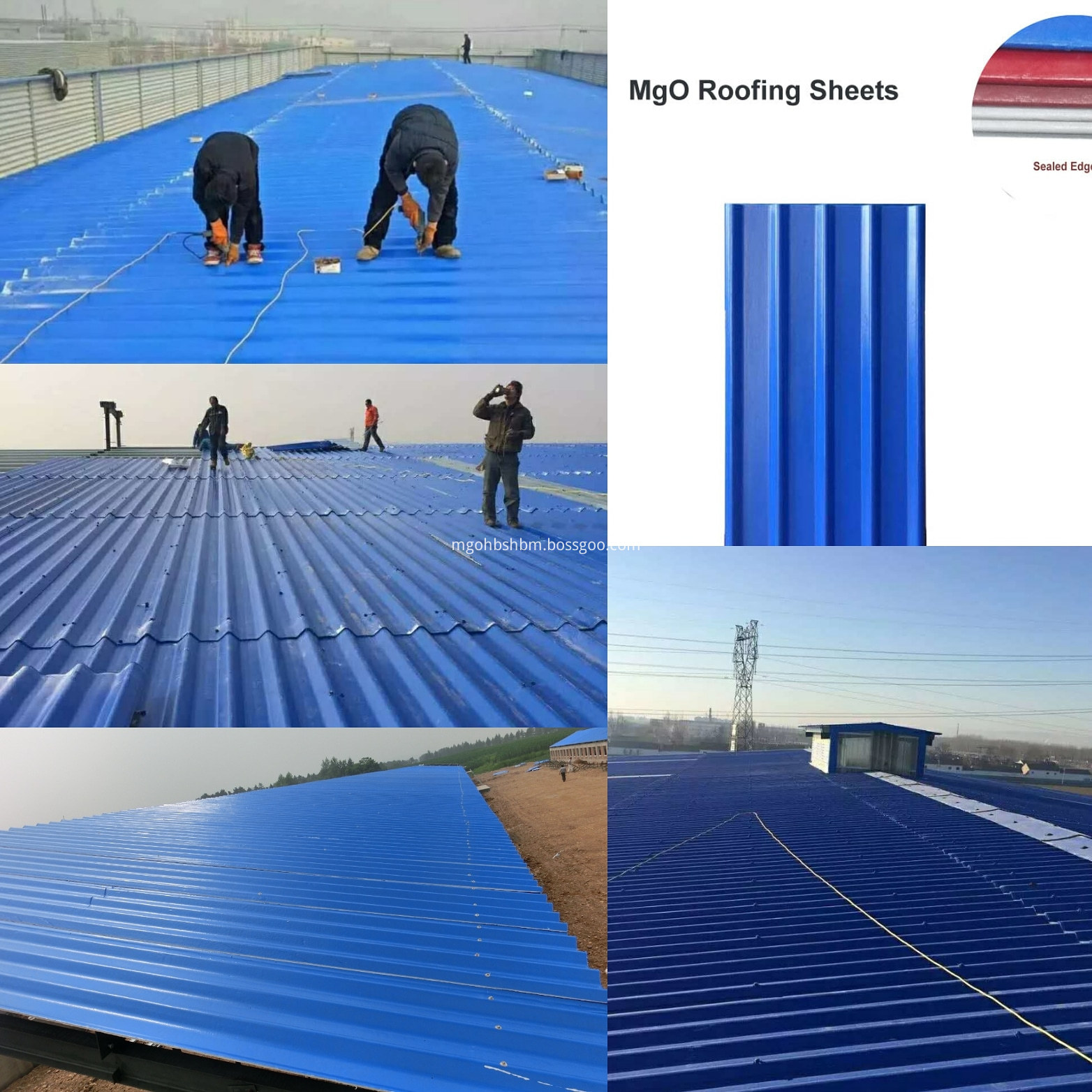 Cheap Anti-corrosion Insulating Laminated MgO Roof Sheets