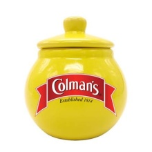 Pot de moutarde en céramique, pot de moutarde