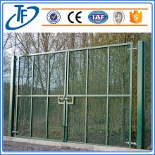 Galvanized anti-climb 358 fence with close mesh holes