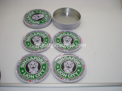 Promotionele aangepaste Tin Coaster Sets - Starbucks