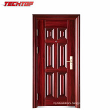 TPS-063 Morden House Steel Door Design with Heat Transfer Wooden Color
