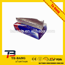 Fourniture de papier mouchoir en aluminium pour usage domestique
