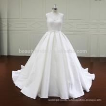 XF807 цвета слоновой кости атласная мантия-де-mariage бальное платье свадебные платья