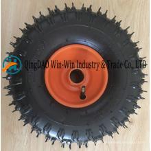 Roda de borracha inflável 4.10-4 pneumática