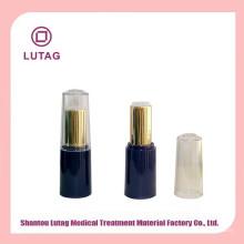 Conteneur de cosmétiques de luxe acrylique pot vide en plastique rouge à lèvres tube