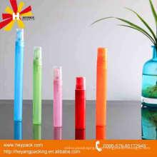 Mini frasco de perfume colorido bonito da bomba de pulverizador