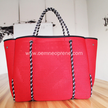 Fashionable Neoprene Perforated Beach Bags