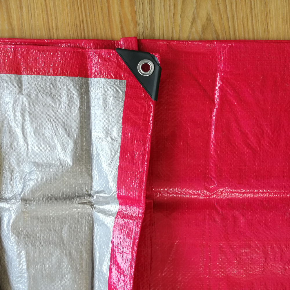 Red Silver Tarp Outdoor Covers