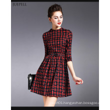 2016 Beautifully Plaid Design Fashion Dress for Women
