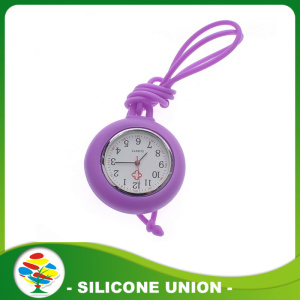 Portable promotion colorful silicone nurse watch