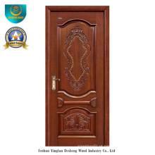 Porta européia da madeira maciça do estilo para o exterior com cinzeladura (ds-8033)