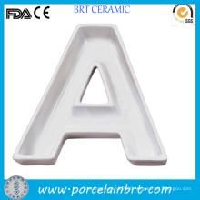 Custom Letter Plate Ceramic Gift Porcelain Dish