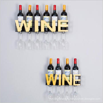 wine accessories wall mounted shelf wine rack