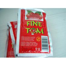 Marca de tomate orgânico Tom de pasta de tomate saquinho para mercado de Dubai