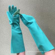 NMSAFETY ce certifié chimique nitrile enduit de longs gants imperméables