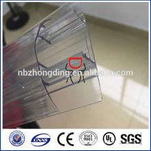 Connecteur 100% vierge de feuille de polycarbonate lexan h et profil u