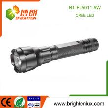 Fábrica de suministro de aluminio de emergencia 1 * 18650 Utilizado multi-funcional táctico CREE 5W llevó la luz de la antorcha luz recargable Noche